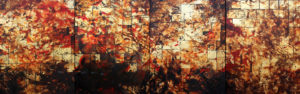 Cristina Sandor, Declive, mixta-tela, 2013, 150 x 480 cm